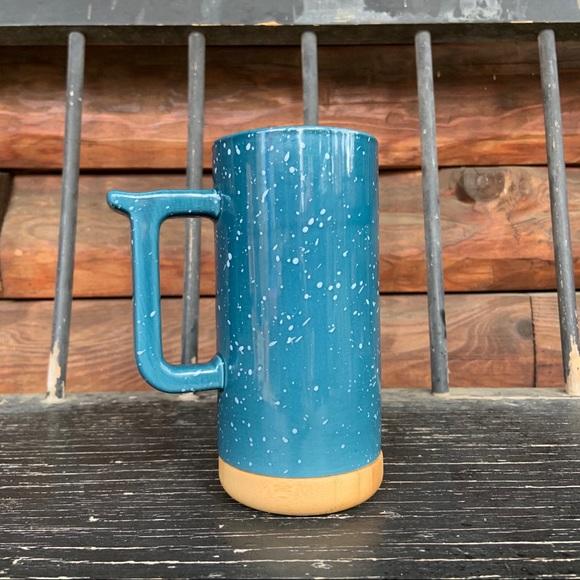 Ceramic and Wood travel mug
